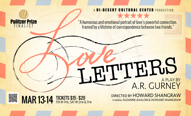 tickets now on sale for cultural centers latest theatrical production ar gurneys love letters hi desert cultural center