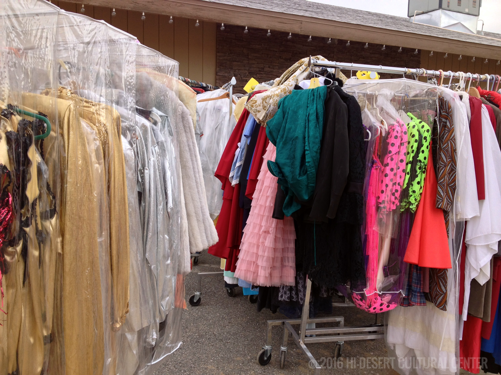 The Hi-Desert Cultural Center maintains the largest costume wardrobe in the region; built and collected from over half-a-century of its own productions, as well as donations from other theaters and groups outside of the area that have closed. The Center currently rents an off-site climate controlled ~4,000 sq.ft. facility to store its vast wardrobe.
