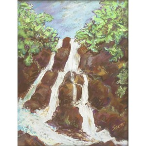 Scott_ Lost Waterfall_ pastels_ 16x20_400_result