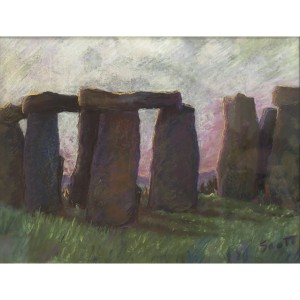Scott_ Sunset Stonehenge_ pastels_ 16x20_500_result
