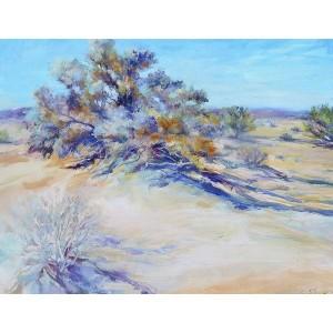 Shaw_SMOKE TREE, acrylic on canvas, 18×24, 700_result
