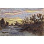 James_ Sunset Ribbons_ 7.5x9.5_ 200