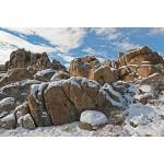 Snowy Boulders