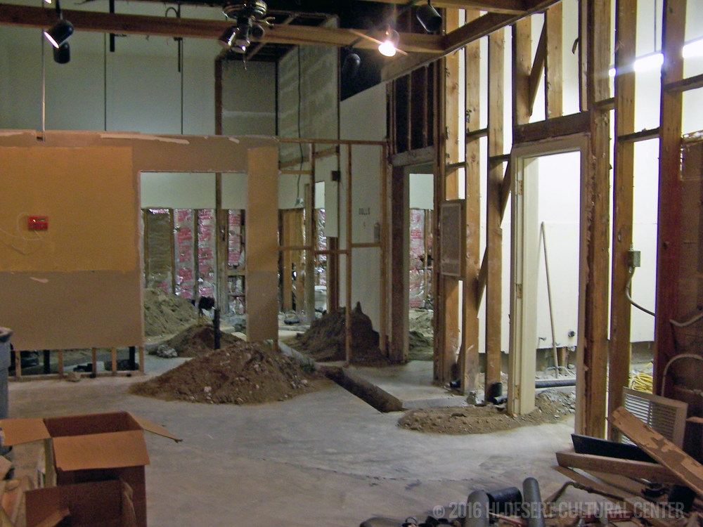 New patron restrooms and plumbing renovations in progress