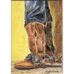 James_ Boots Spurs Cowboy_ 6.25x5.25_ 225