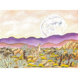 CAMPBELL – A Song in the Cholla Garden – 21×27 – 600