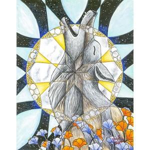 CAMPBELL – Coyote Kaleidoscope – 16×13 – 100